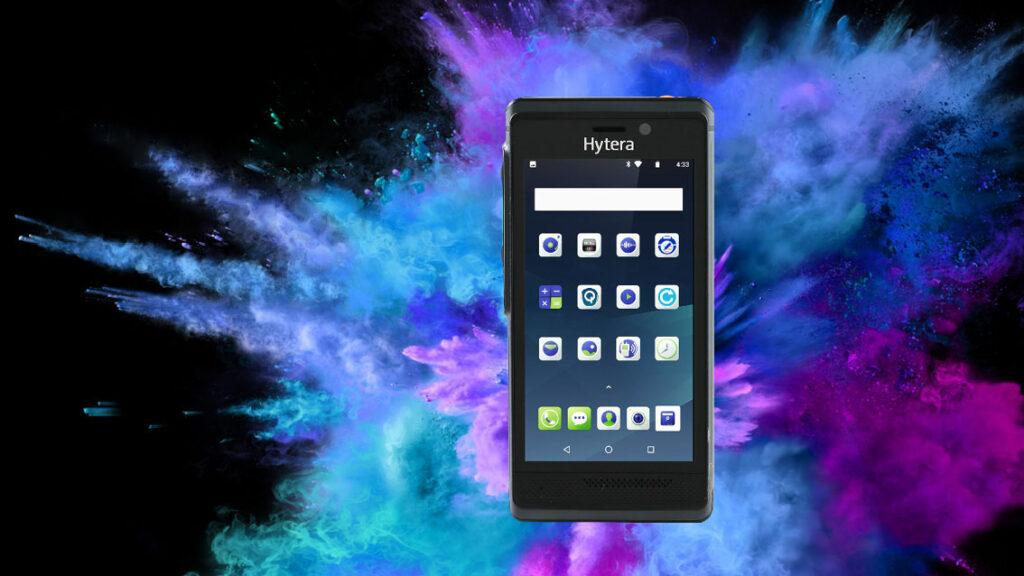 Hytera Mobilfunk PNC550 PoC-Smartphone mit Android, Push to talk