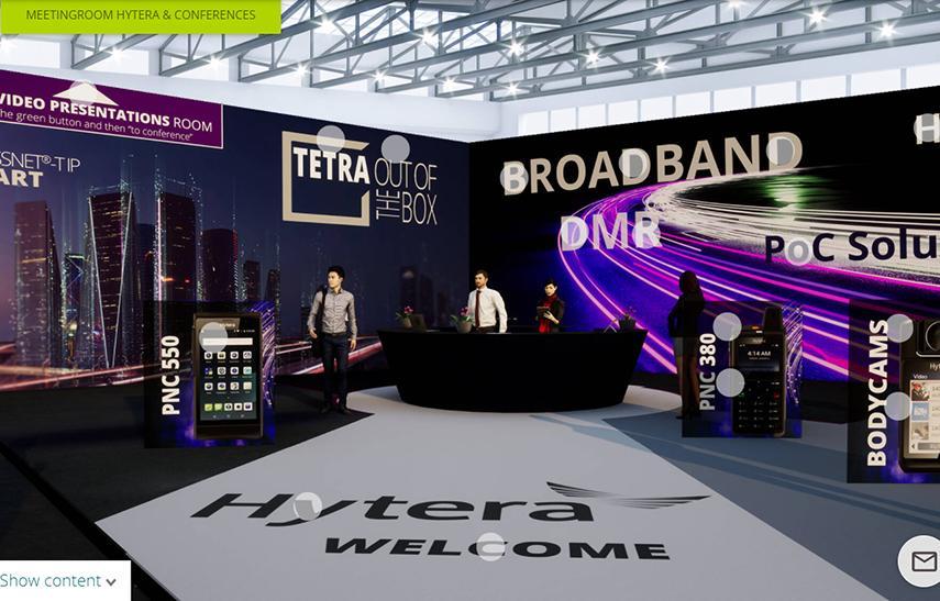 Hytera Mobilfunk PMR Expo 2020 Messestand
